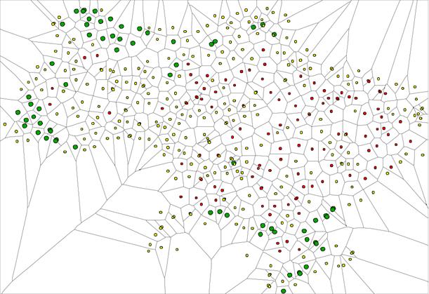 ядер экологической сети по