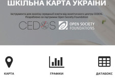Ukraine secondary schools map CEDOS