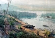Краєвид окраїн Донбасу за пермського періоду (із експозиції ННПМ)